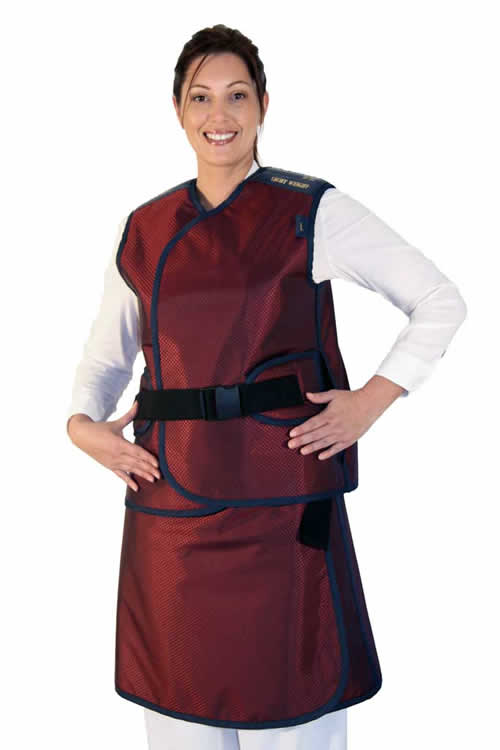 Skirt and Vest Style Apron with build in Back Protector Belt