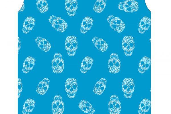 GLITTER SKULLS BLUE-1